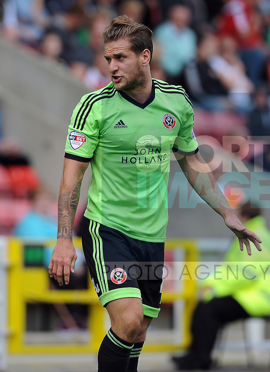 Billy Sharp of Sheffield United<br /> - English League One - Swindon Town vs Sheffield Utd - County Ground Stadium - Swindon - England - 29th August 2015