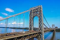 FORT LEE, EUA, 01.08.2019 - TURISMO-EUA - Vista da George Washington Bridge que liga os estados de Nova York e Nova Jersey nos Estados Unidos nesta quinta-feira, 01. (Foto: William Volcov/Brazil Photo Press)