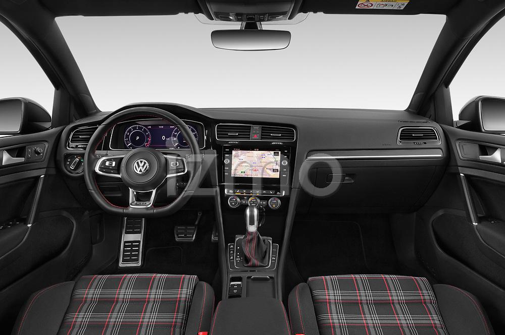 Stock photo of straight dashboard view of 2018 Volkswagen Golf-GTI-Performance - 5 Door Hatchback Dashboard