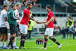 Solna 2013-08-06 Football Friendly Game , AIK - Manchester United FC :  <br /> Manchester United 11 Ryan Giggs byts ut mot Manchester United 33 Bebe <br /> (Foto: Kenta J&ouml;nsson) Nyckelord:
