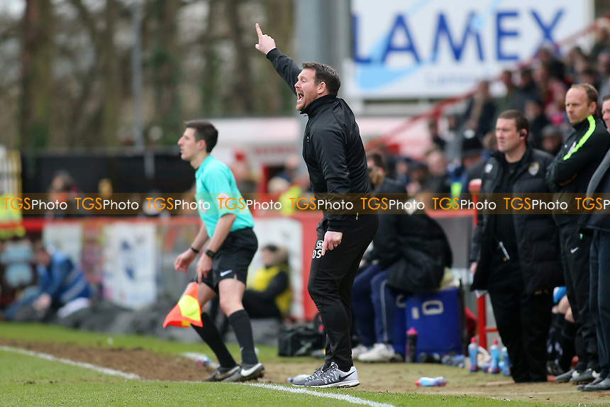 Stevenage manager Darren Sarll during Stevenage vs Notts County, Sky Bet EFL League 2 Football at the Lamex Stadium on 4th March 2017