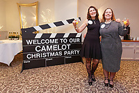 Pictured L-R: Lottery winners Karen Maddock 51 and Tina Burgess, 55 both from Bristol.  Wednesday 28 November 2018<br /> Re: National Lottery millionaires from south Wales and the south west of England have hosted a glitzy Rat Pack-inspired Christmas party for an older people's music group at The Bear Hotel in Cowbridge, Wales, UK.