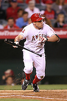 06/08/11 Anaheim, CA: Los Angeles Angels center fielder Peter Bourjos #25 during an MLB game between the Tampa Bay Rays and The Los Angeles Angels  played at Angel Stadium. The Rays defeated the Angels 4-3 in 10 innings