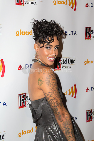 NEW YORK, NY - SEPTEMBER 12: Fashion model AzMarie Livingston attends the Annual GLAAD Manhattan Summer Benefit at Gansevoort Park Avenue in New York, NY. September 12, 2013. Photo by  Stulich/RTN/MediaPunch Inc.