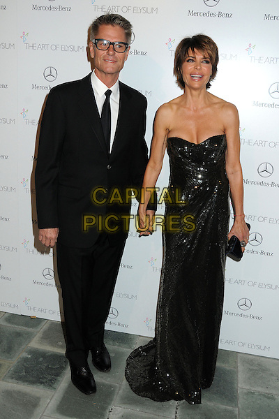 11 January 2014 - Los Angeles, California - Harry Hamlin, Lisa Rinna. 7th Annual Art of Elysium Heaven Gala held at the Skirball Cultural Center.  <br /> CAP/ADM/BP<br /> &copy;Byron Purvis/AdMedia/Capital Pictures