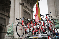 Team Wallonie-Bruxelles spare bikes ready for the Brussels Cycling Classic 2016