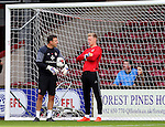 Goalkeeping coach Darren Ward with Aaron Ramsdale of Sheffield Utd during the English League One match at Glanford Park Stadium, Scunthorpe. Picture date: September 24th, 2016. Pic Simon Bellis/Sportimage
