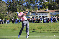 Matthew Cain tees off the 6th tee at Pebble Beach Golf Links during Saturday's Round 3 of the 2017 AT&amp;T Pebble Beach Pro-Am held over 3 courses, Pebble Beach, Spyglass Hill and Monterey Penninsula Country Club, Monterey, California, USA. 11th February 2017.<br /> Picture: Eoin Clarke | Golffile<br /> <br /> <br /> All photos usage must carry mandatory copyright credit (&copy; Golffile | Eoin Clarke)