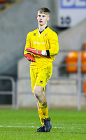 Blackpool's Sam Kellett<br /> <br /> Photographer Alex Dodd/CameraSport<br /> <br /> The FA Youth Cup Third Round - Blackpool U18 v Derby County U18 - Tuesday 4th December 2018 - Bloomfield Road - Blackpool<br />  <br /> World Copyright © 2018 CameraSport. All rights reserved. 43 Linden Ave. Countesthorpe. Leicester. England. LE8 5PG - Tel: +44 (0) 116 277 4147 - admin@camerasport.com - www.camerasport.com