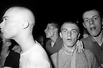 Skinheads in Camden Town at The Electric Ballroom dancing to   UB40. London 1980.<br />