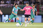 (L-R) <br /> Rin Sumida (Beleza), <br /> Miho Kamogawa (Jef Ladies), <br /> SEPTEMBER 3, 2016 - Football / Soccer : <br /> Plenus Nadeshiko League Cup 2016 Division 1 Final match <br /> between NTV Beleza 4-0 Jef Chiba Ladies <br /> at Ajinomoto Field Nishigaoka in Tokyo, Japan. <br /> (Photo by AFLO SPORT)