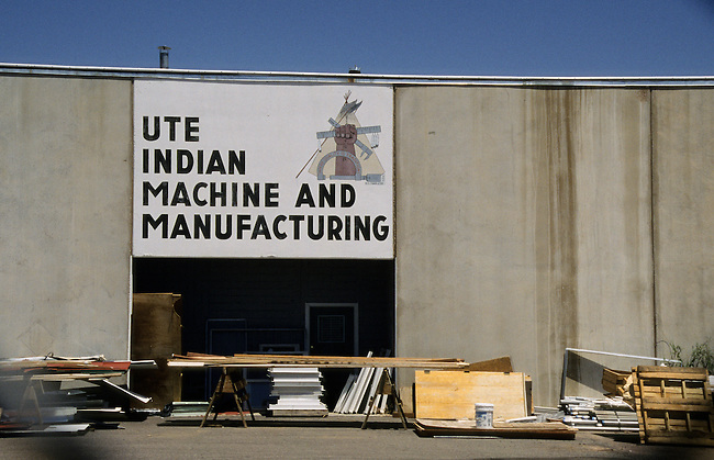 Ute Indian Machine and Manufacturing business and shop located on the Uintah and Ouray Reservation, Fort Duchesne Utah.
