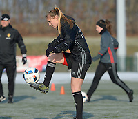 20170118 - TUBIZE , Belgium : Alexandra 'Zandy' Soree pictured during a training session of the Belgian national women's soccer team Red Flames during their winter camp, on the 18 th of January in Tubize. PHOTO DIRK VUYLSTEKE | Sportpix.be