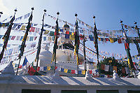 Buddhism and Hinduism coexist peacefully in Nepal and have done for centuries. The Bodhnath Temple is a significant Buddhist temple in Kathmandu and has attracted a large Tibetan community, including a body of monks.