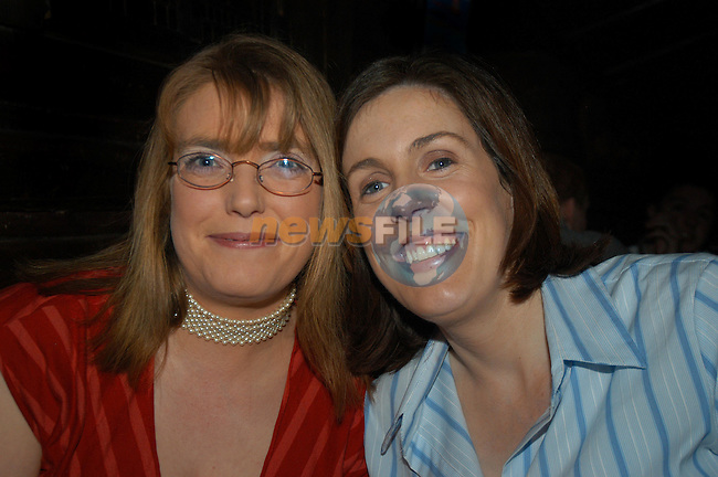 Wendy Kennedy and Amanda O'Brien,enjoying a night out in Storm Nite Club..Picture Tony campbell Newsfile...This Picture is sent to you by:..Newsfile Ltd.The View, Millmount Abbey, Drogheda, Co Louth, Ireland..Tel: +353419871240.Fax: +353419871260.GSM: +353862500958.ISDN: +353419871010.email: pictures@newsfile.ie.www.newsfile.ie