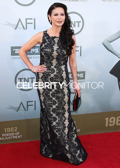 HOLLYWOOD, LOS ANGELES, CA, USA - JUNE 05: Catherine Zeta-Jones at the 42nd AFI Life Achievement Award Honoring Jane Fonda held at the Dolby Theatre on June 5, 2014 in Hollywood, Los Angeles, California, United States. (Photo by Xavier Collin/Celebrity Monitor)
