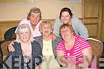 3634-3637.---------.All the 8's.-----------.Having great fun at the John Mitchell's GAA club Tralee Monster bingo at the Mount Brandon Hotel Tralee last Friday night to raise fund's for the Juvenile board were,L-R Lis Heaphy,Hanna Healy,Geraldine O'Brien,Joannie O'Connor and Tresia Griffin.