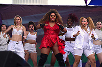 Washington, DC - June 10, 2018: Drag entertainers Ladies of Town performs at the 2018 Capitol Pride concert in Washington, D.C. June 10, 2018.  (Photo by Don Baxter/Media Images International)
