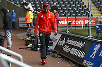 Daniel Sturridge of Liverpool arrives before the Barclays Premier League match between Swansea City and Liverpool played at the Liberty Stadium, Swansea on 1st May 2016