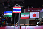 General view, <br /> AUGUST 23, 2018 - Taekwondo : Women's -49kg Victory ceremony at Jakarta Convention Center Plenary Hall during the 2018 Jakarta Palembang Asian Games in Jakarta, Indonesia. <br /> (Photo by MATSUO.K/AFLO SPORT)