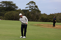 Patrick Cantlay (USA) on the 1st fairway during the Second Round - Foursomes of the Presidents Cup 2019, Royal Melbourne Golf Club, Melbourne, Victoria, Australia. 13/12/2019.<br /> Picture Thos Caffrey / Golffile.ie<br /> <br /> All photo usage must carry mandatory copyright credit (© Golffile | Thos Caffrey)