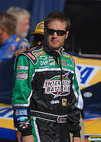 Mar 30, 2007; Martinsville, VA, USA; Nascar Nextel Cup Series driver J.J. Yeley (18) during qualifying for the Goody's Cool Orange 500 at Martinsville Speedway. Martinsville marks the second race for the new car of tomorrow. Mandatory Credit: Mark J. Rebilas