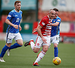 18.05.2019 Hamilton v St Johnstone: Darian Mackinnon muscles his way through for a shot on goal