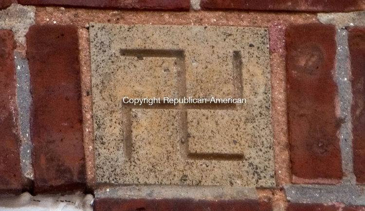 WATERBURY CT. 26 December 2013-122613SV01-These corner stones are on the windows of Hopeville School in Waterbury Thursday. <br /> Steven Valenti Republican-American