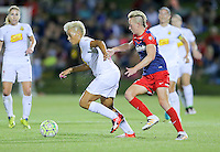 Boyds, MD - Saturday Sept. 03, 2016: Lianne Sanderson, Joanna Lohman during a regular season National Women's Soccer League (NWSL) match between the Washington Spirit and the Western New York Flash at Maureen Hendricks Field, Maryland SoccerPlex.