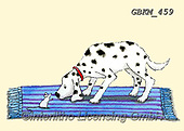 Kate, CUTE ANIMALS, LUSTIGE TIERE, ANIMALITOS DIVERTIDOS, paintings+++++Dog meets mouse.,GBKM459,#ac#, EVERYDAY ,dog,dogs