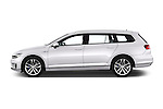 Car Driver side profile view of a 2016 Volkswagen Passat-Variant GTE 5 Door wagon Side View