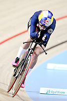 Picture by SWpix.com - 03/03/2018 - Cycling - 2018 UCI Track Cycling World Championships, Day 4 - Omnisport, Apeldoorn, Netherlands - Women's Individual Pursuit -  Chloe Dygert of The United States brakes world record