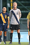 29 August 2014: Cal's Kevin Peach (16). The University of North Carolina Tar Heels hosted the University of California Bears at Fetzer Field in Chapel Hill, NC in a 2014 NCAA Division I Men's Soccer match. North Carolina won the game 3-1.