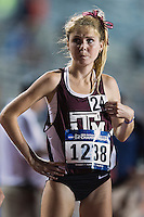 Karis Jochen of Texas A&M awaits the start of 10000 meter semifinal during West Preliminary Track and Field Championships, Friday, May 29, 2015 in Austin, Tex. (Mo Khursheed/TFV Media via AP Images)