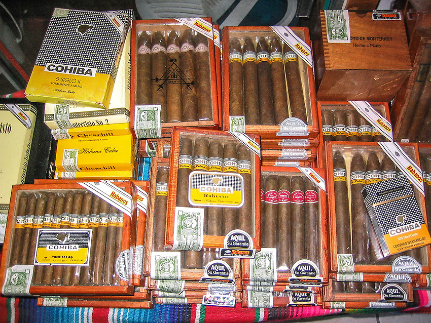 banned in the US, Mexico is a great source.of Cuban Cigars