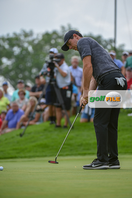 Rory McIlroy (NIR) watches his putt on 12 during 1st round of the World Golf Championships - Bridgestone Invitational, at the Firestone Country Club, Akron, Ohio. 8/2/2018.<br /> Picture: Golffile | Ken Murray<br /> <br /> <br /> All photo usage must carry mandatory copyright credit (© Golffile | Ken Murray)