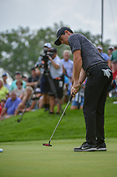 Rory McIlroy (NIR) watches his putt on 12 during 1st round of the World Golf Championships - Bridgestone Invitational, at the Firestone Country Club, Akron, Ohio. 8/2/2018.<br /> Picture: Golffile | Ken Murray<br /> <br /> <br /> All photo usage must carry mandatory copyright credit (&copy; Golffile | Ken Murray)