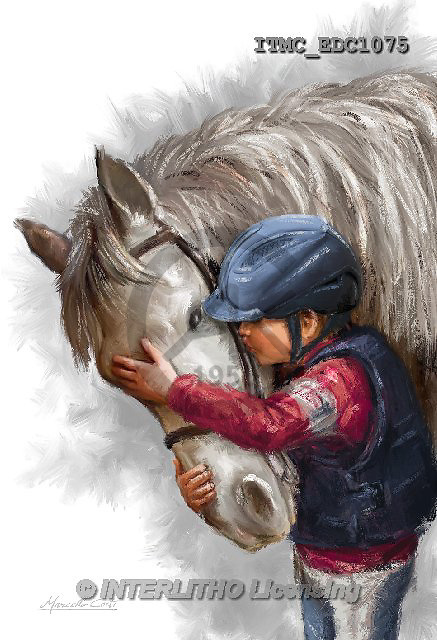 Marcello, REALISTIC ANIMALS, REALISTISCHE TIERE, ANIMALES REALISTICOS, paintings+++++,ITMCEDC1075,#A# ,horse,horsemen,rider