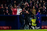 Head coach Diego Simeone of Atletico de Madrid celebrates during the La Liga 2018-19 match between Atletico de Madrid and Athletic de Bilbao at Wanda Metropolitano, on November 10 2018 in Madrid, Spain. Photo by Diego Gouto / Power Sport Images