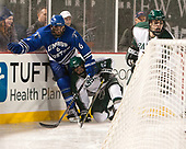 Garrett Gallagher (UMB - 6), Bill Seligman (Babson - 25) - The UMass Boston Beacons defeated the Babson College Beavers 5-1 on Thursday, January 12, 2017, at Fenway Park in Boston, Massachusetts.