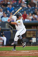 Akron RubberDucks third baseman Joe Sever (9) at bat during a game against the Richmond Flying Squirrels on July 26, 2016 at Canal Park in Akron, Ohio .  Richmond defeated Akron 10-4.  (Mike Janes/Four Seam Images)
