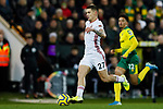 Muhamed Besic of Sheffield United runs with the ball during the Premier League match at Carrow Road, Norwich. Picture date: 8th December 2019. Picture credit should read: James Wilson/Sportimage