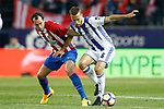 Atletico de Madrid's Diego Godin (l) and Real Sociedad's Esteban Granero during La Liga match. April 4,2017. (ALTERPHOTOS/Acero)