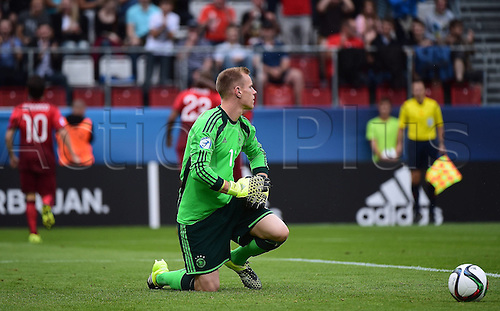 27.06.2015. Andruv Stadium, Olomouc, Czech Republic. U21 European championships, semi-final. Portugal versus Germany.  Marc-Andre ter Stegen (Germany) looking disappointed