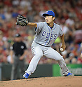 Tsuyoshi Wada (Cubs),<br /> JULY 8, 2014 - MLB : Chicago Cubs starting pitcher Tsuyoshi Wada pitches against the Cincinnati Reds during the Major League Baseball game at Great American Ball Park in Cincinnati, Ohio, USA. Japanese pitcher Tsuyosh Wada was making his major league debut.<br /> (Photo by AFLO)