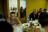 Jewish residents of the popular Thai tourist island of Koh Samui gather  for a party at Rabbi Goldshmid's (unseen) home during Chanuka on 15th December 2009. .Koh Samui is the smaller of 2 islands next to each other, world renowned for the monthly full moon rave parties on the beach..Photo by Suzanne Lee / For Chabad Lubavitch