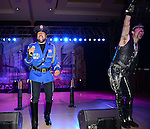 HOLLYWOOD, FL - OCTOBER 25: Eric Anzalone and Ray Simpson of The Village People perfoms at the 13th Annual Footy's Bubbles & Bones Gala at Westin Diplomat Resort and Spa on October 25, 2013 in Hollywood, Florida. (Photo by Johnny Louis/jlnphotography.com)