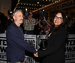 Jon Stewart and wife Tracey McShane attending the opening night performance for 'Springsteen on Broadway' at The Walter Kerr Theatre on October 12, 2017 in New York City.
