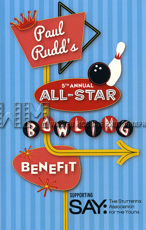 Poster for the 5th Annual Paul Rudd All-Star Bowling Benefit for (SAY) at Lucky Strike Lanes on February 13, 2017 in New York City.