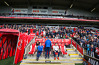 Accrington Stanley manager John Coleman takes his seat on the away team bench<br /> <br /> Photographer Alex Dodd/CameraSport<br /> <br /> The EFL Sky Bet League One - Fleetwood Town v Accrington Stanley - Saturday 15th September 2018  - Highbury Stadium - Fleetwood<br /> <br /> World Copyright &copy; 2018 CameraSport. All rights reserved. 43 Linden Ave. Countesthorpe. Leicester. England. LE8 5PG - Tel: +44 (0) 116 277 4147 - admin@camerasport.com - www.camerasport.com